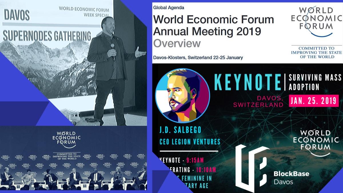 J.D. Salbego speaking at the World Economic Forum Davos 2019