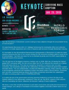 J.D. Salbego Presents at World Economic Forum 2019
