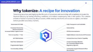 Benefits Of Tokenizing Securities by J.D. Salbego