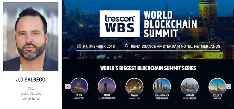 J.D. Salbego Speaks At World Blockchain Summit Amsterdam 2018