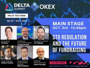 Malta's Delta Summit 2019 Recap – Presenting on STO Regulation and Fundraising