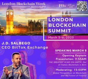 J.D. Salbego- Speaker Flyer-London Blockchain Summit 2020
