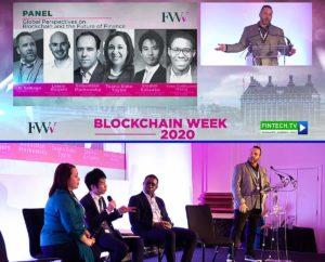 J.D. Salbego - moderates panel at London Blockchain Summit 2020